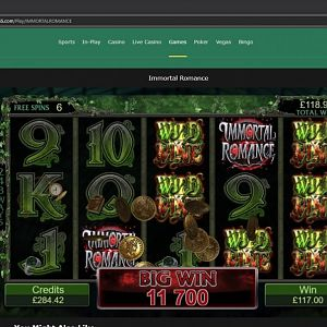 Inmortal Romance Slot Winner By Naok777 - Sept 2018