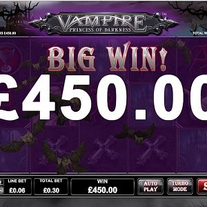 Vampire Princess Of Darkness Slot X1500 Win By Amoourgirl - July 2018