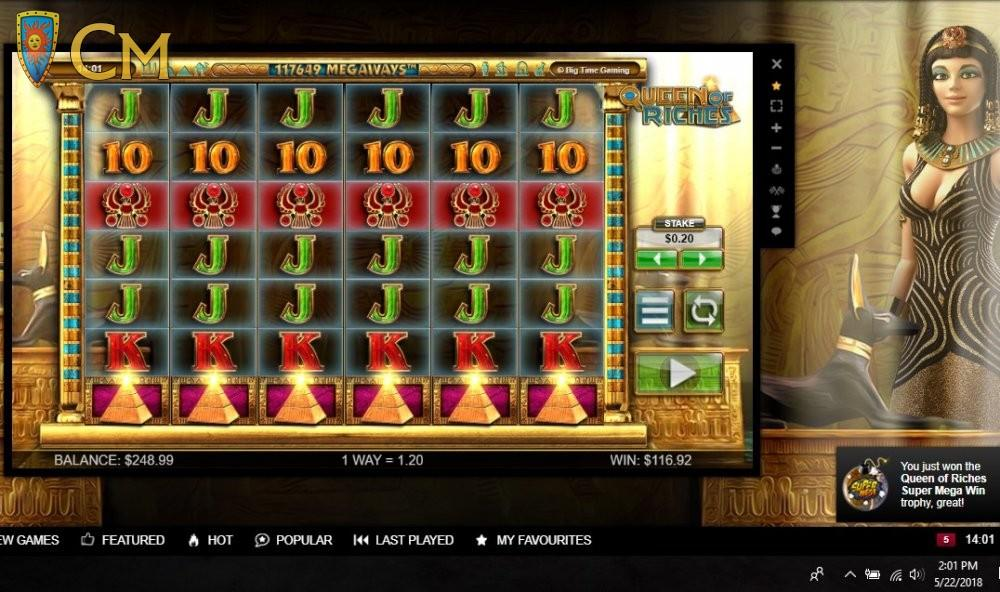 Queen Of Riches Slot Winner By MenangSlots - May 2018
