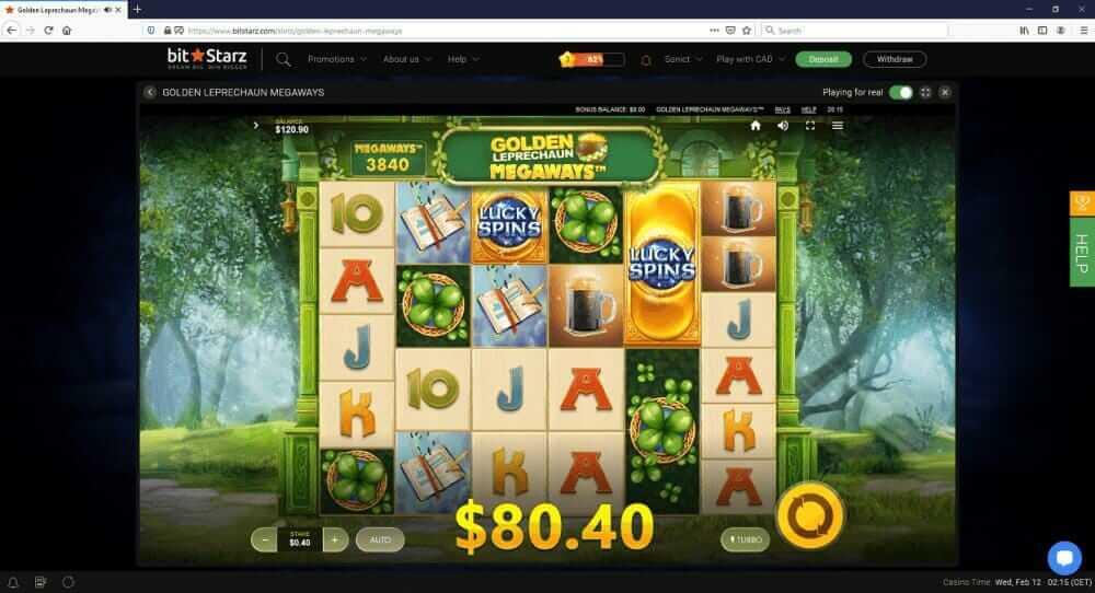 Bitstarz winner screenshot - Golden Leprechauns - thanks to Sonict.