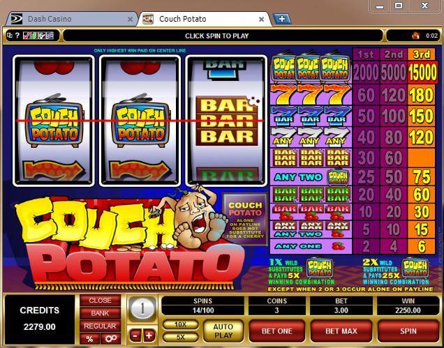 Dash Casino Couch Potato Slots