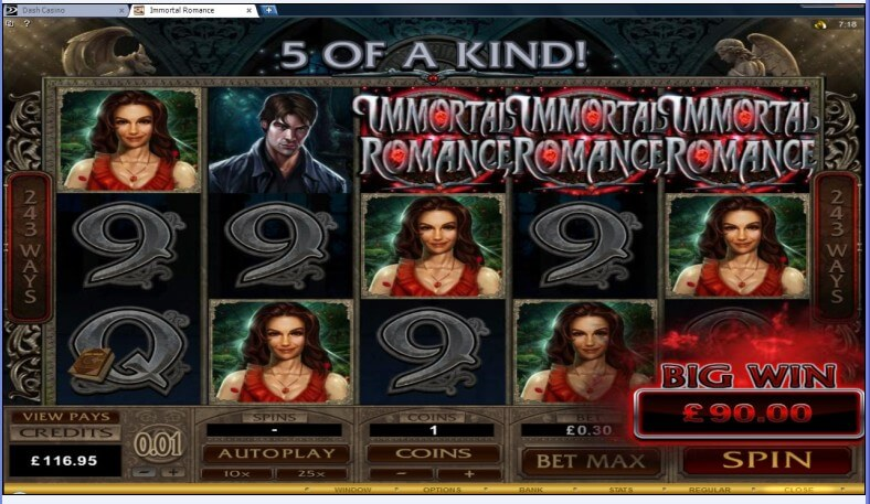 Dash Casino Immortal Romance