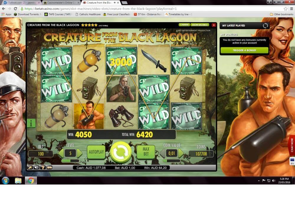 Betat Winning Screenshot Creature from the Black Lagoon