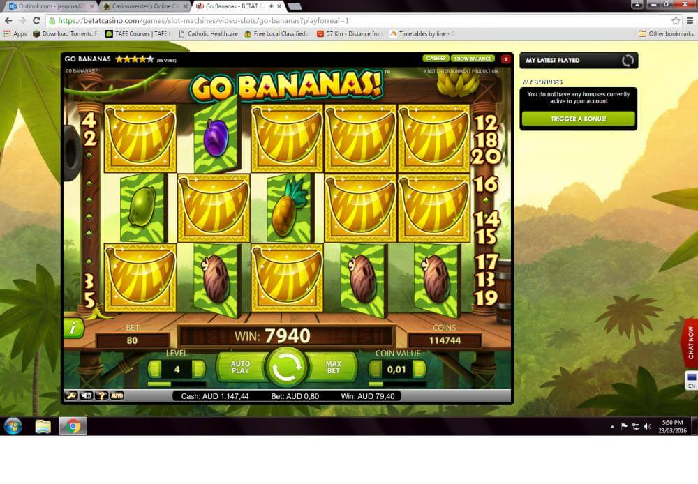 Go Bananas Betat Winner Screenshot