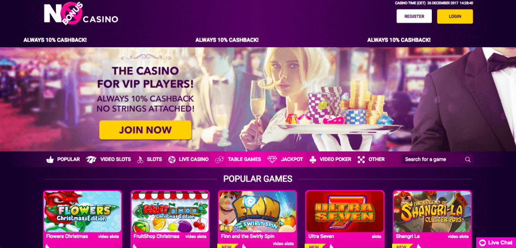 Nobonus Casino Home