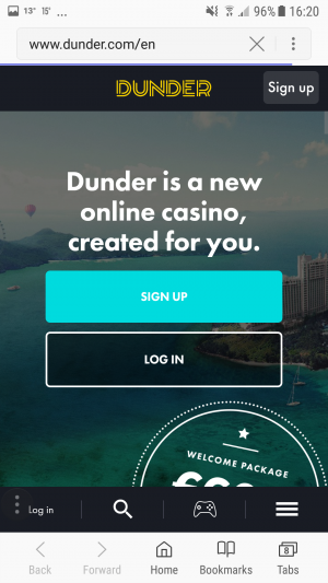 Dunder mobile sign up