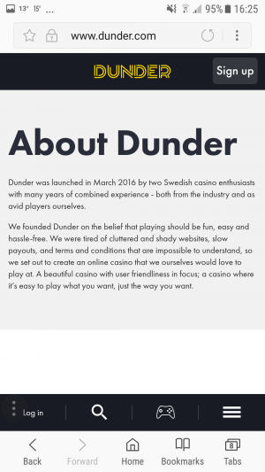 Dunder About Us Mobile