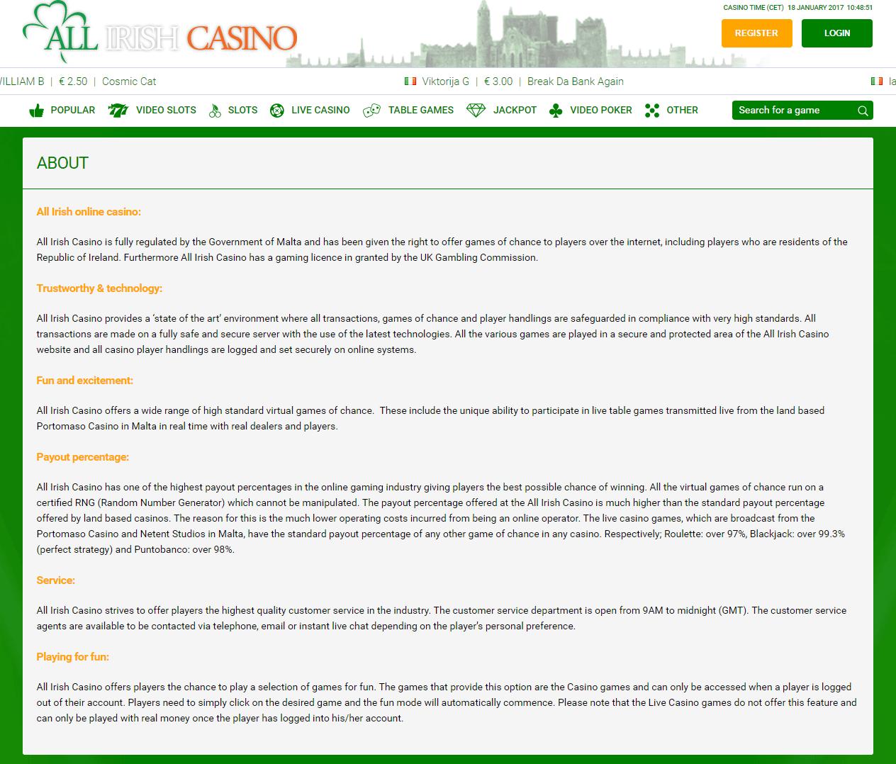 сервера онлайн казино