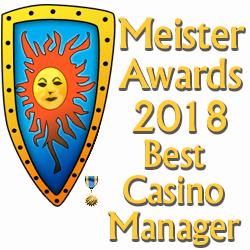 Casinomeister Awards 2018 - Best Casino manager