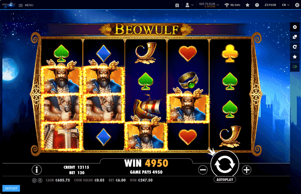 Beowulf win - Breakout Gaming
