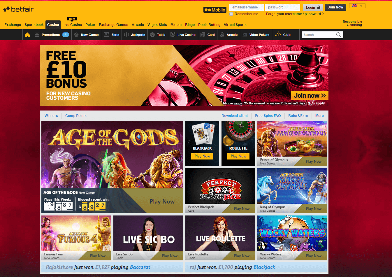 Betfair Casino Reviews