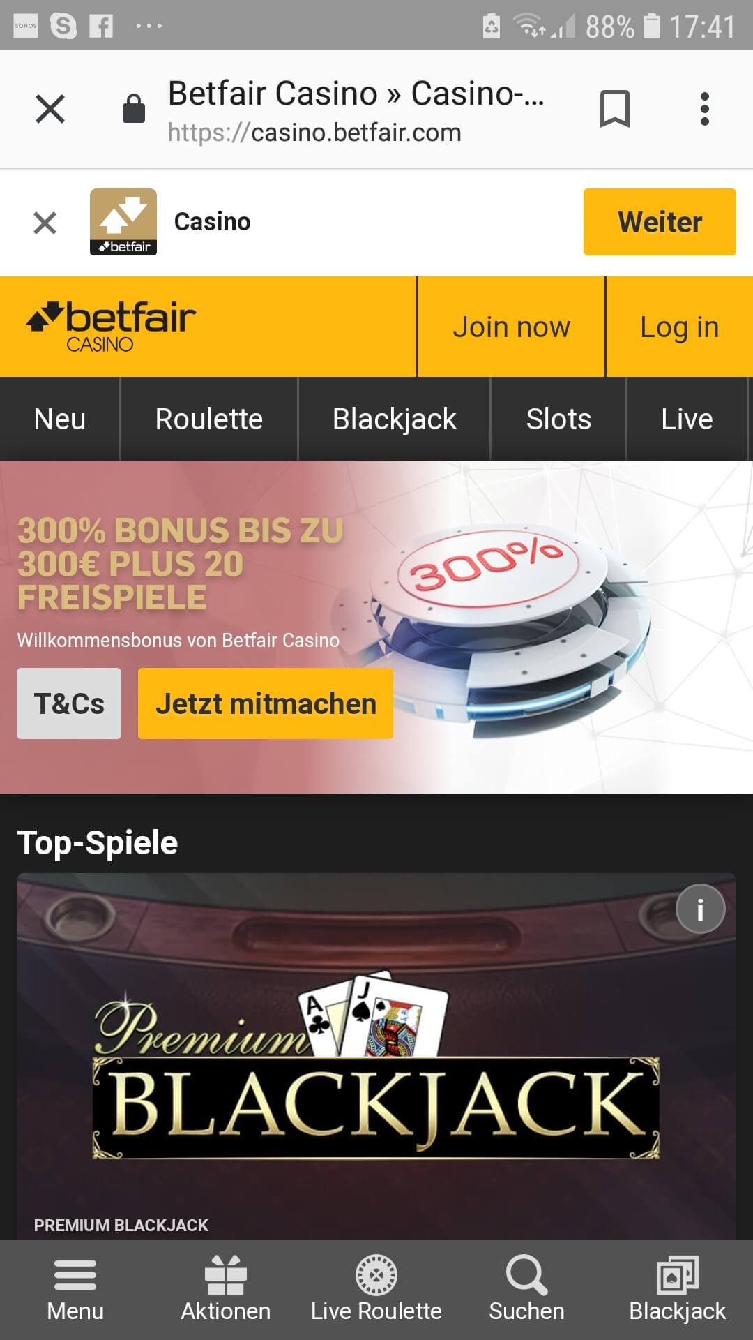 f0a085d4ce1 Betfair Casino Review | Grey Zone | Casinomeister