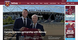 West Ham Betway Deal