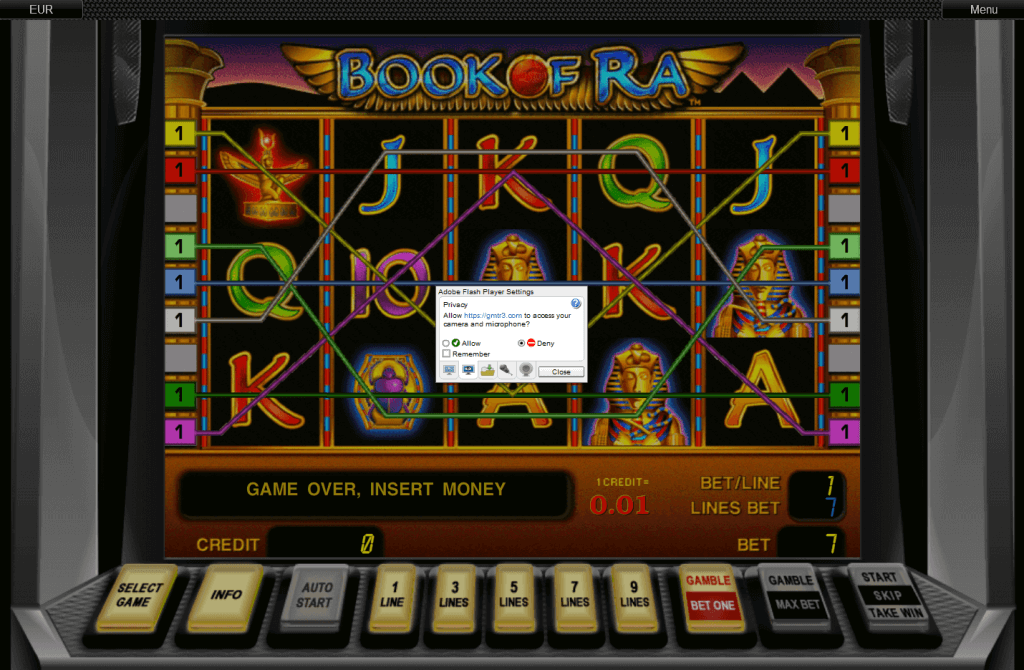 Fake Book of Ra slot game
