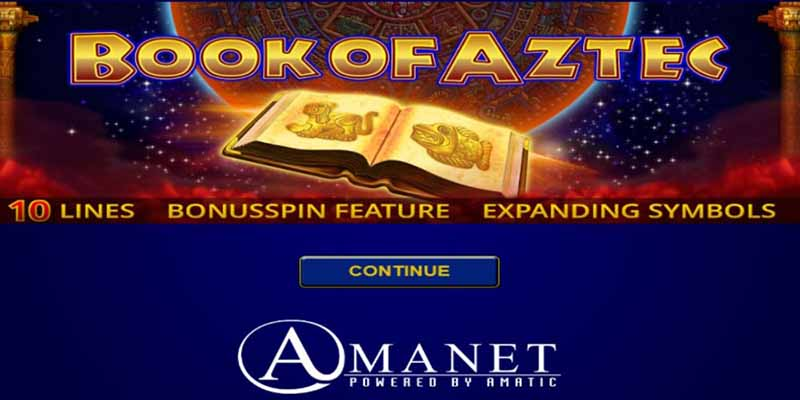 Amanet Slots Book of Aztec