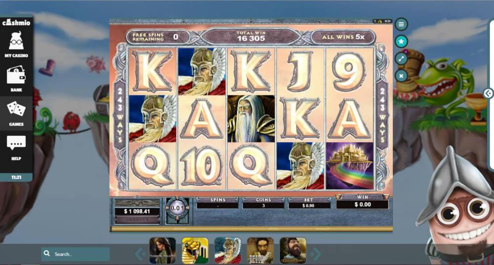 Cashmio Casino Thunderstruck II win by Mina1929