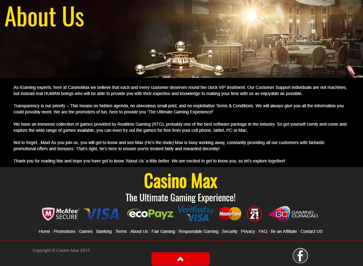 Igaming max casino certified online casino
