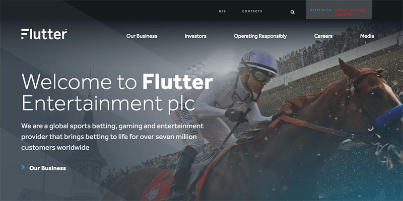 Flutter Entertainment's Half Year Profits in Heavy Fall