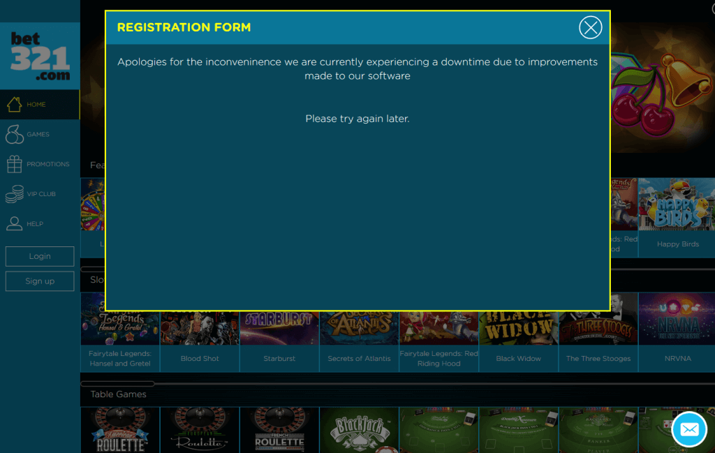 Bet321 home page