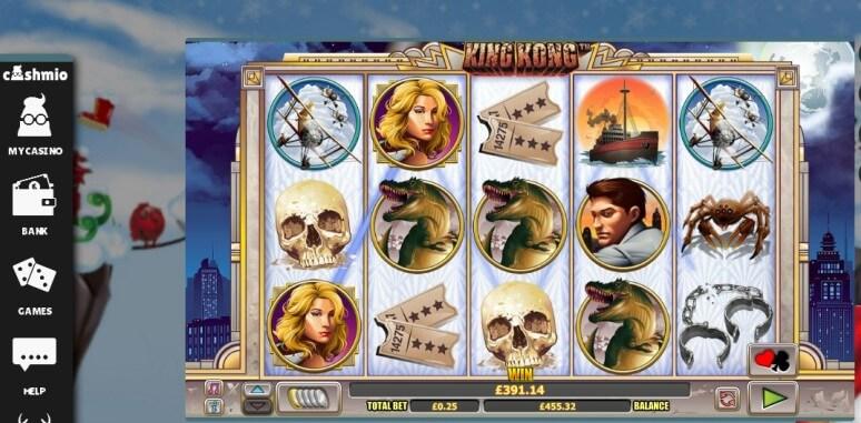 Cashmio Casino King Kong win by McGameboy