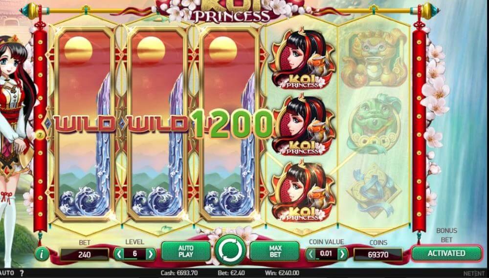 Koi Princess win at Codeta - thanks to kanajorma for this awesome screenshot