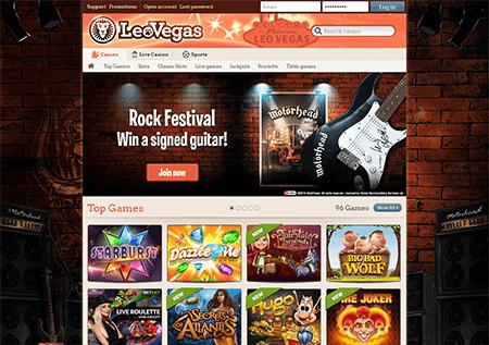 Leo Vegas Casino Homepage