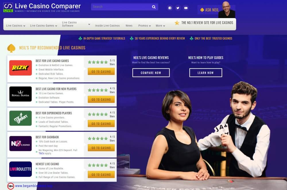 live casino comparer