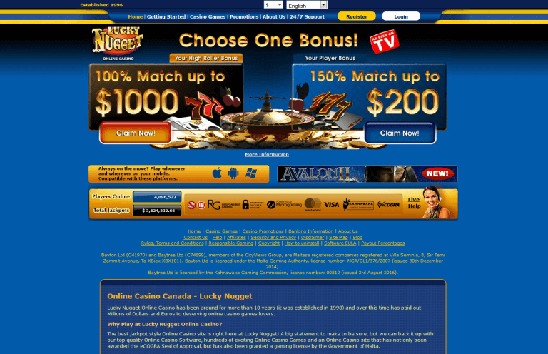 Lucky Nugget Casino Review Trusted Updated Info Casinomeister