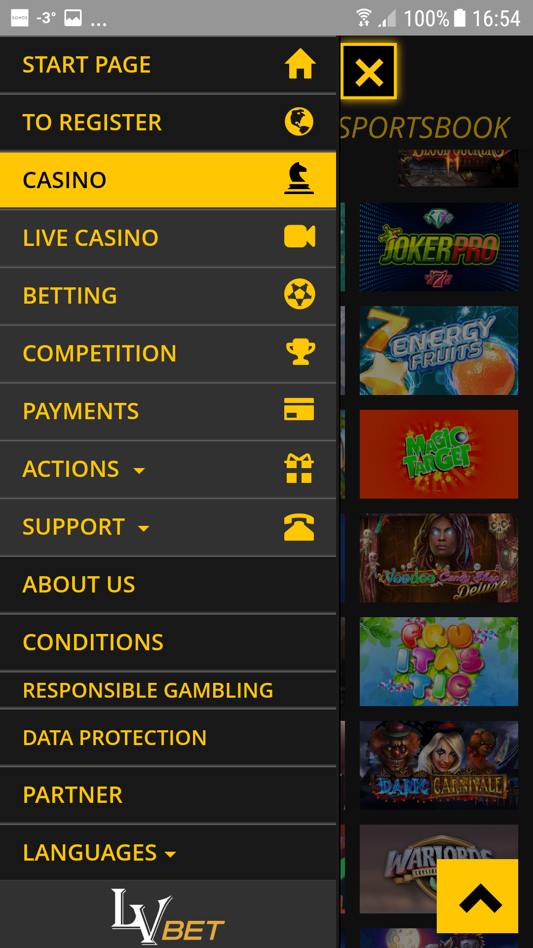 Optimal blackjack betting strategy