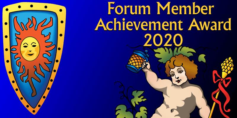 Forum member achievement award