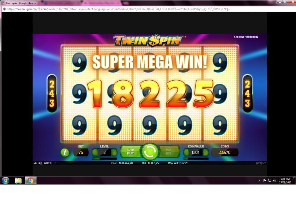 TwinSpin win - thanks to Mina1929