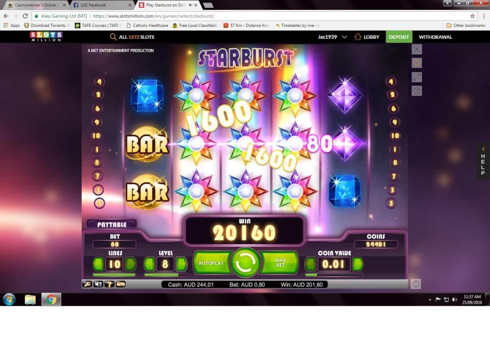 Starburst win - thanks to Mina1929