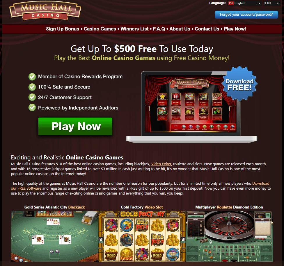 Music hall casino harrahs slot machines