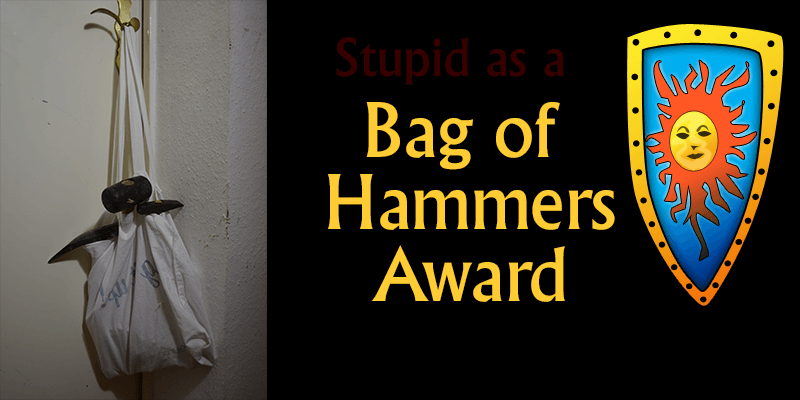 stupid as a bag of hammers