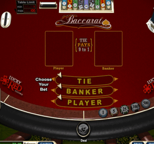 online baccarat screenshot