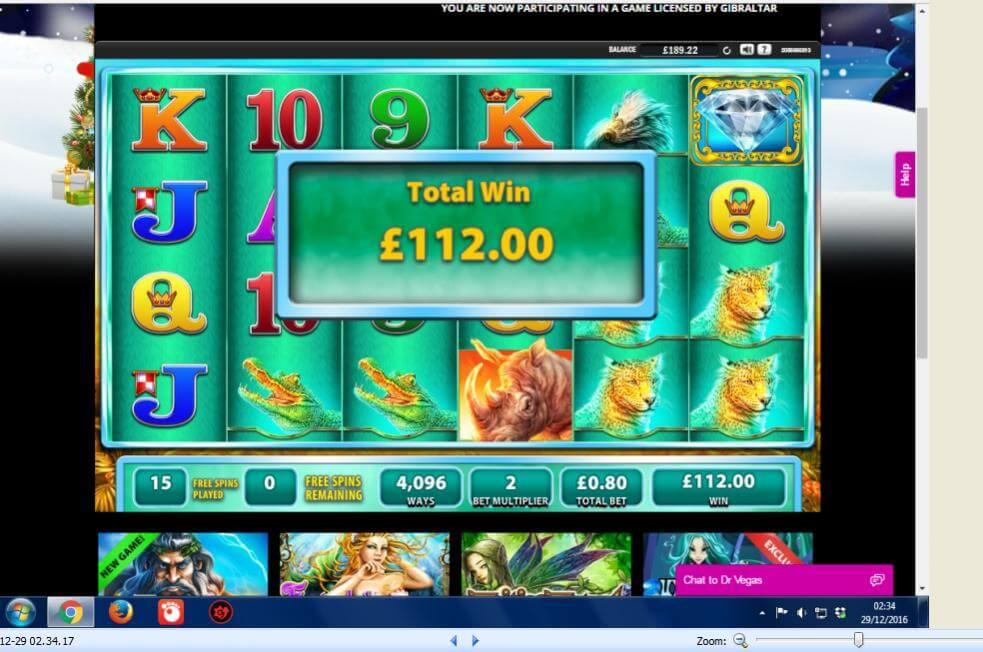 Raging Rhino WMS slots screenshot thanks to Spintee