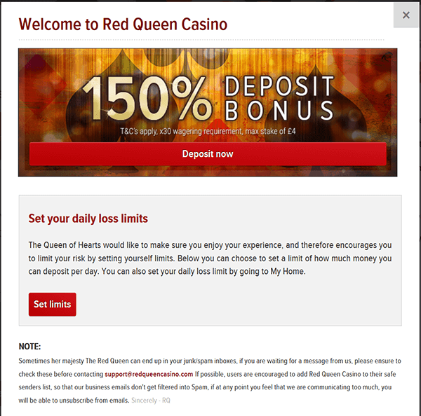 Setting Limits at Red Queen Casino