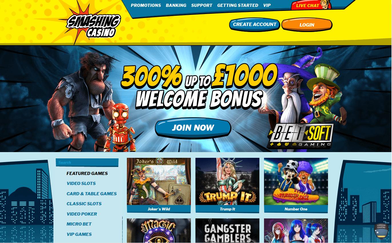 no deposit bonus smashing casino
