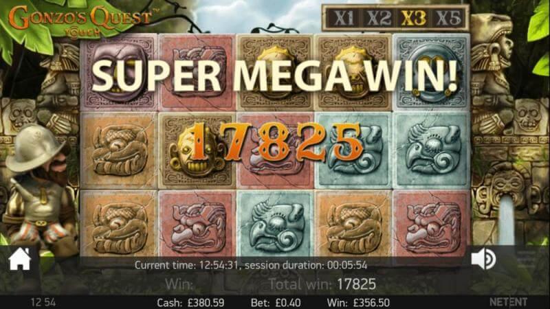 Gonzos Quest winner screenshot thanks to Snorky510238