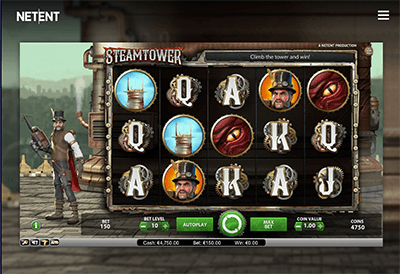 Steam Tower Slot Screenshot