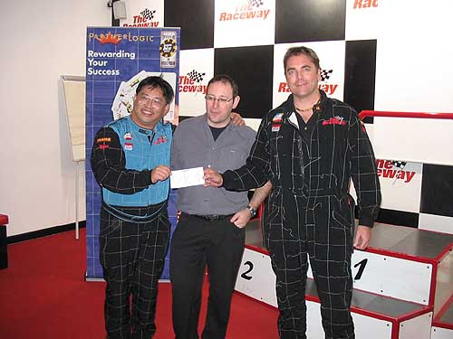 Ted and I and Peter Marcus - $110,000 check to Unicef from Got2bet/Casinomeister auction.