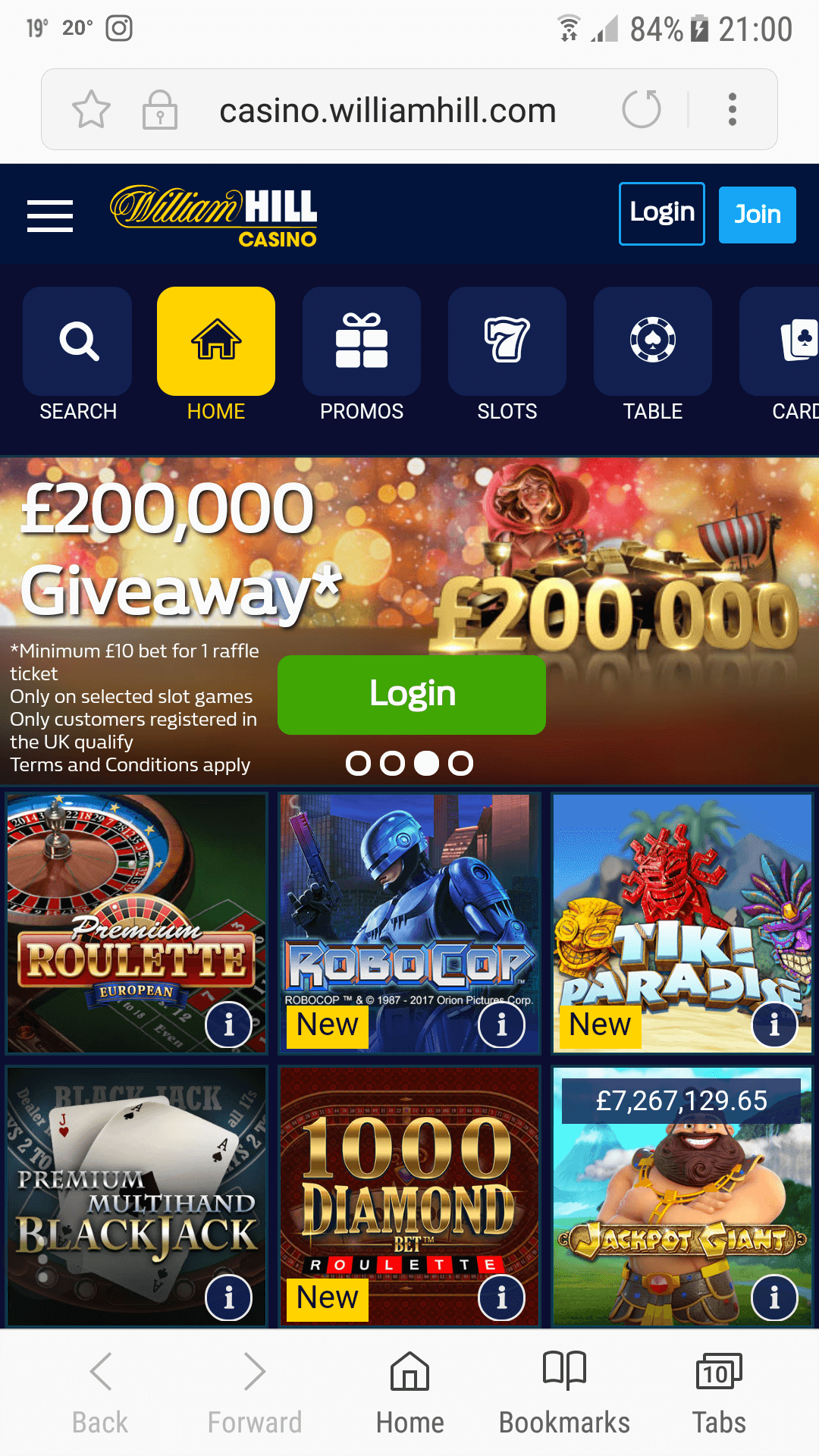 William hill mobile slot games gambling in barcelona spain