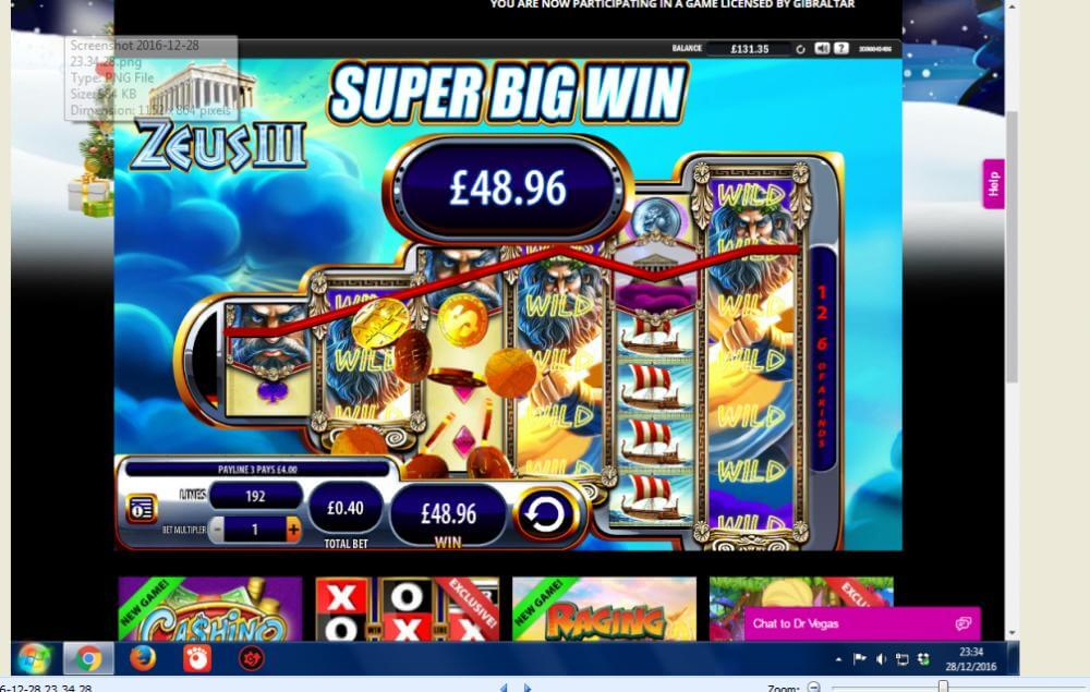 Zeus III slots screenie thanks to Spintee